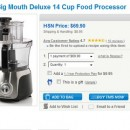 Hamilton Beach Big Mouth Deluxe 14 Cup Food Processor for 68.37$ Shipped