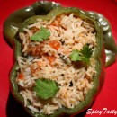 Rice stuffed capsicum