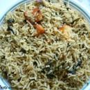 Spinach Rice/Palak Pulao