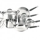 KitchenAid Gourmet Essentials 10-Piece Brushed Stainless Steel Cookware Set