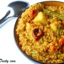 Sambar Rice – Lentil Rice