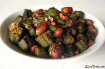 Vendakkai Poriyal – Okra Fry (Version 2)