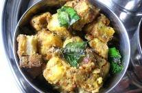 Steamed Plantain Fry – Vazhakkai Vega Vaitha Curry