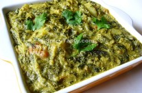 Aloo Sarson Da Saag – Creamy Green Curry with Potato