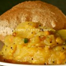 Puri Masala / Indian Puffed Flat Bread with Potato Curry