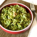 Fusilli with Spinach and Arugula Pesto