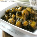 Aloo Palak Curry – Spinach Potato Dry Curry