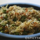 Cabbage Peas Stir Fry / Cabbage Peas Poriyal