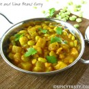 Chayote and Lima Beans Lentil Curry- Chowchow Mochakottai Kootu
