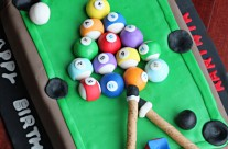 Pool Table/Billiards Fondant Cake