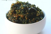 Vendhaya Keerai Poriyal / Fenugreek leaves Fry