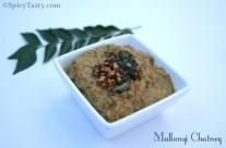 Mullangi Chutney / Radish Chutney