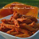 Roasted Red Bell Pepper and Tomato Pasta