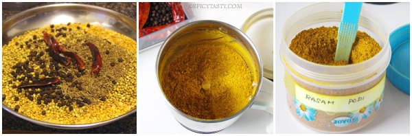 rasam powder step2