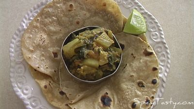 Aloo Methi Sabji(Potato With Fenugreek Leaves Curry)