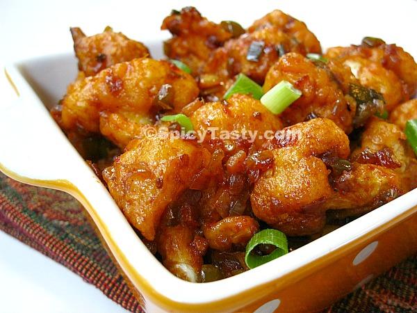 Gobi Manchurian dry – Cauliflower Manchurian dry