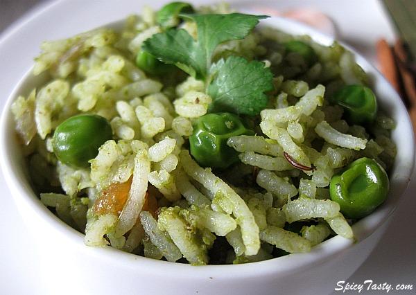 Coriander-Peas Pulao