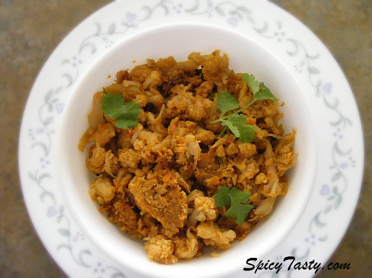 Cauliflower masala fry