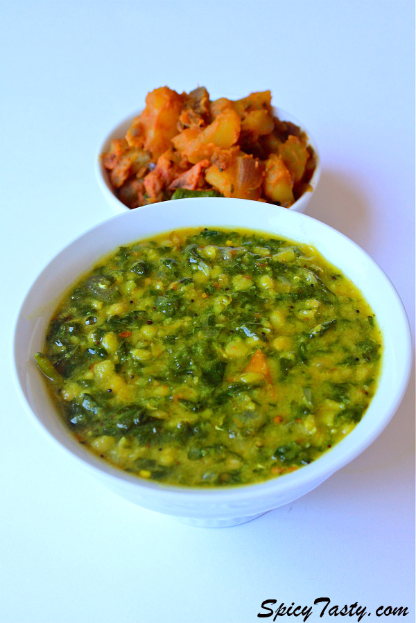 dal palak recipe palak dal spinach dal step wise pictures