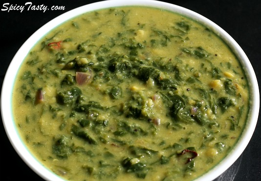 Spinach Dal Curry | Spicy Tasty