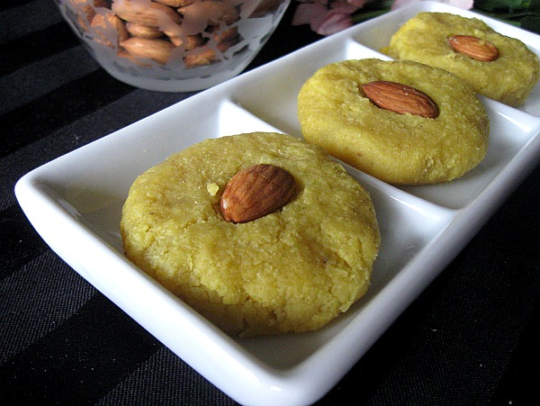 Cashew Badam Burfi- Cashew nut and Almond Cake