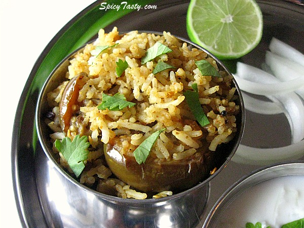 Vangi Bath – Spicy Brinjal Rice