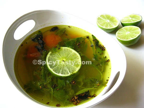 Elumichai Rasam – Clear Soup with Lime and Tomato