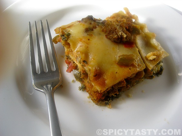 Classic Three Cheese and Vegetable Lasagna | Spicy Tasty