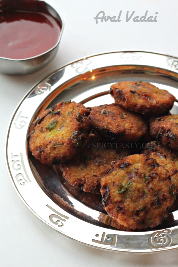 Aval Vadai (Poha Vada) | Spicy Tasty