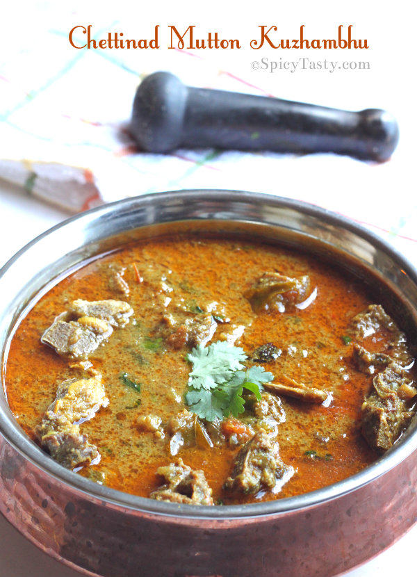 Chettinad Mutton Kuzhambhu