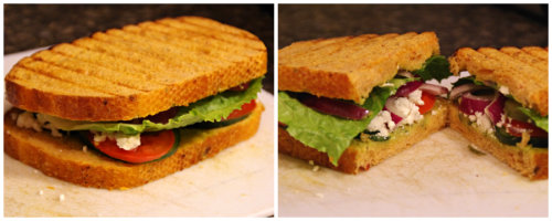If you like cold sandwich finally add lettuce and top it with another ...