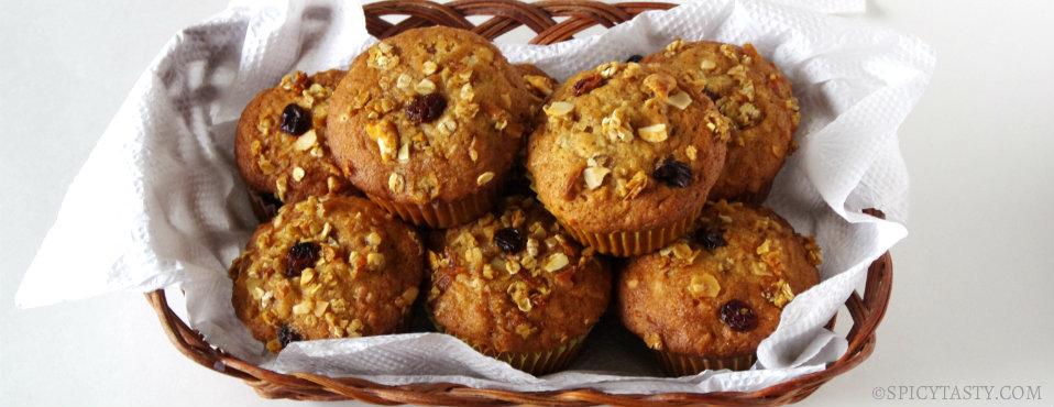 Moist Banana Crunch Muffins