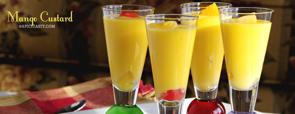 Mango Custard with Fruits