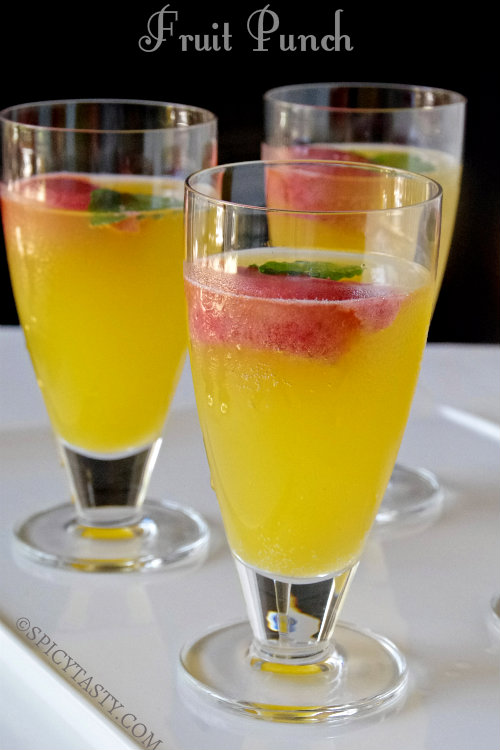 Fruit Punches With Alcohol This is a Non Alcoholic Fruit