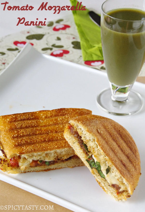 Tomato and Mozzarella Panini (Panera Style) | Spicy Tasty
