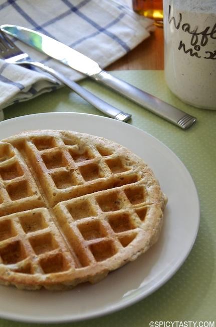 homemade waffle mix-1