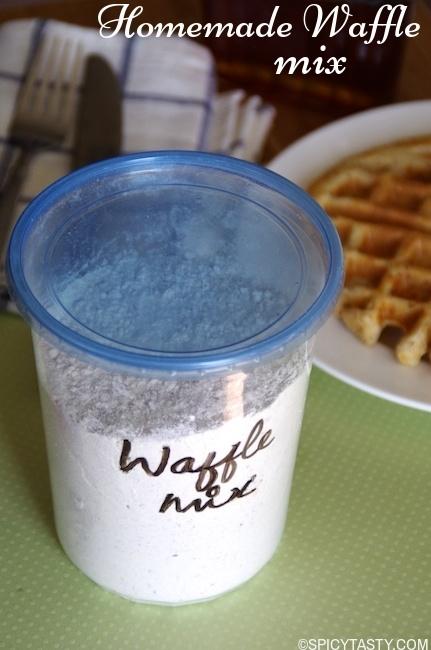 homemade waffle mix-2